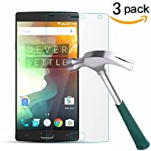 OnePlus 2 Screen Protector, TANTEK [Bubble-Free][HD-Clear][Anti-Scratch][Anti-Glare][Anti-Fingerprint] Tempered Glass Screen Protector for OnePlus 2 [2015 Model],[Lifetime Warranty]-[3Pack]