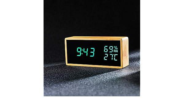 RUANRUAN Reloj Despertador De Temperatura Y Humedad Reloj ...