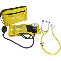 Homecare Kit Baumanometro con Estetoscopio Simple Amarillo Incluye Estuche de Transporte.