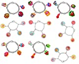 Shopkins Bracelet Party Pack 9 Total with 4 Character Charms each + Free Bonus SPK Mystery Jewelry Pc.