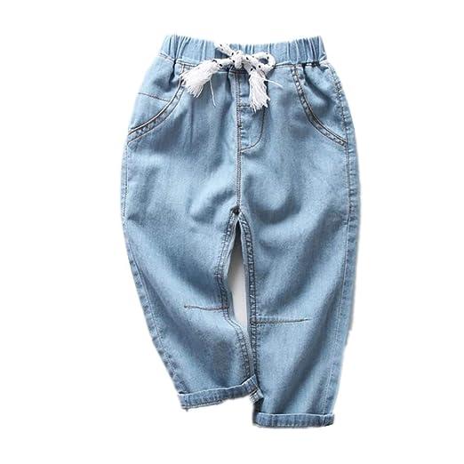 Pantalones Vaqueros de Mezclilla para niños Pantalones de chándal ...