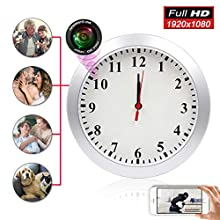 Hidden Camera Clock ZXWDDP Home Nanny Wall Clock Camera 1080P Full HD WiFi Camera Wide Angle Shooting Motion Detection and Mobile App Viewing Support iOS/Android