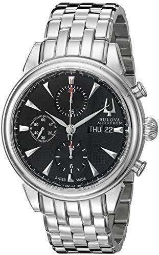 Bulova Men s 63C106 Gemini Analog Display Swiss Automatic Silver Watch