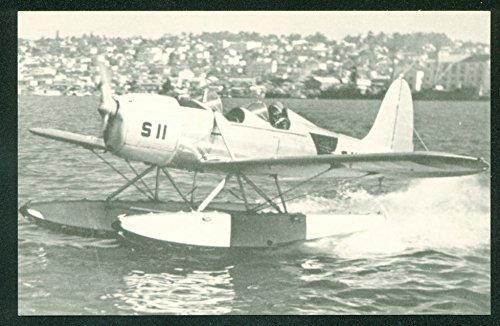 (RYAN STM S2 Test Flight San Diego Harbor California Airplane Float Postcard)