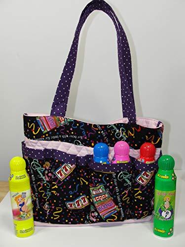 Bingo Slots Handmade Fabric Purse Bag Tote Craft Organizer Teacher Tote Nurse Tote from Bonnie Adcox Creations
