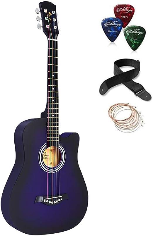 BAIYING-Guitarra Acústica Adulto Guitarra De Viaje Principiante ...