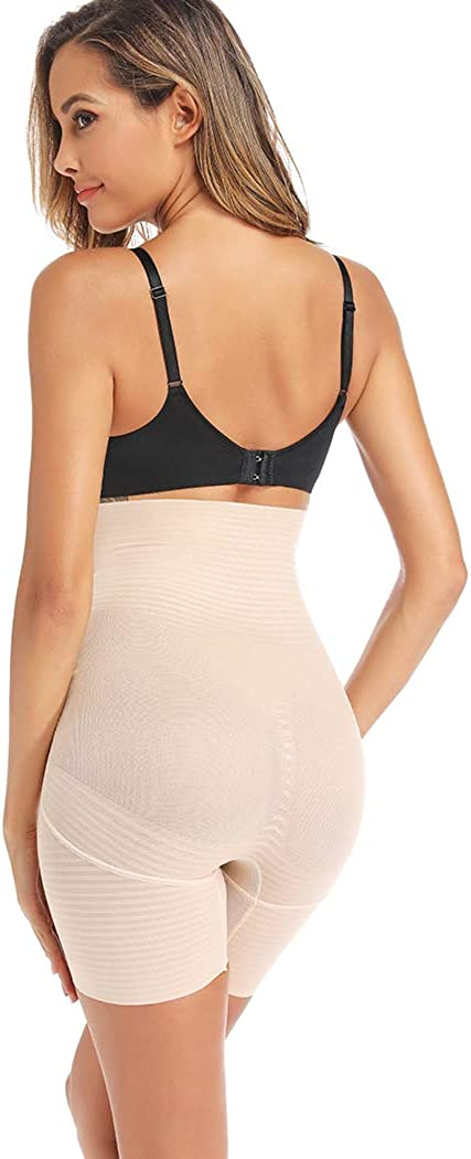 Joyshaper Thigh Slimmer Shapewear for Women Tummy Control Shorts High Waist Body Shaper Panties Smooth Slip Short Panty