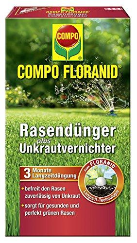 Compo Rasenpflege Floranid dünger plus Unkrautvernichter 6 kg für 200 m², grün