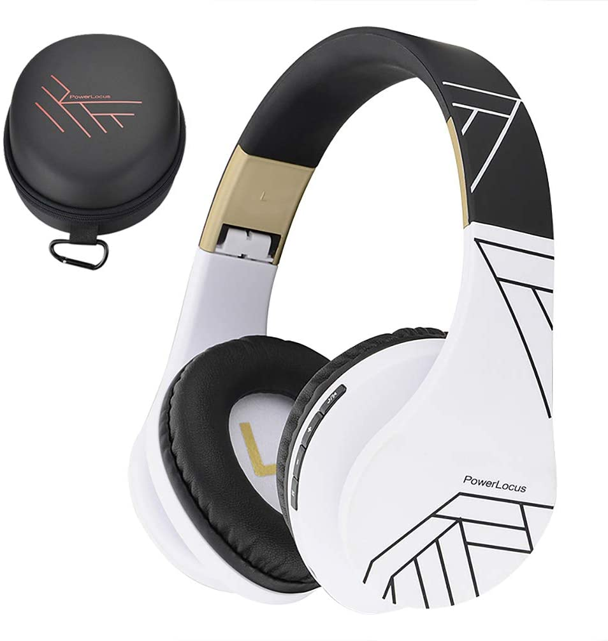 PowerLocus P2 – Auriculares Bluetooth inalambricos de Diadema Cascos Plegables, Casco Bluetooth con Sonido Estéreo Micro SD/TF, FM con micrófono y Audio Cable para iPhone/Samsung/iPad/Huawei/PC/