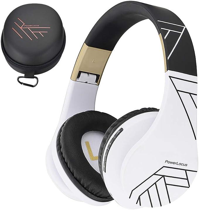 PowerLocus Casque Bluetooth sans Fil, Casque Audio stéréo Pliable sans Fil et Filaire avec Micro intégré, Micro SDTF, FM pour