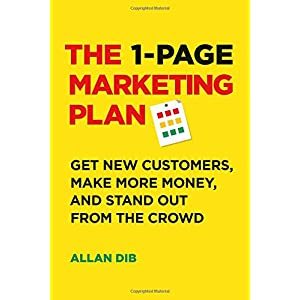 51uazlzVSLL. SS300  - The 1-Page Marketing Plan: Get New Customers, Make More Money, And Stand out From The Crowd