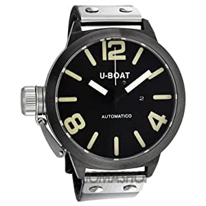 u-boat nero automatic leather mens watch 339 340