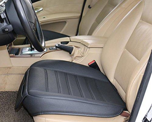 (W53x L54cm) PU leather car seat cushion car seat protectorcar seat cover for BMW/ 5 Series, X3, X4,X5 & Audi A8 / Q7/Mercedes Benz GLS / GL / M / S (L, Black) Bmw 5 Series Car Cover