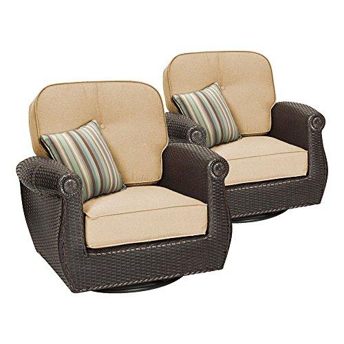 Breckenridge 4 Piece Patio Furniture Set Two Swivel: Breckenridge Swivel Rocker 2 Piece Patio Furniture Set