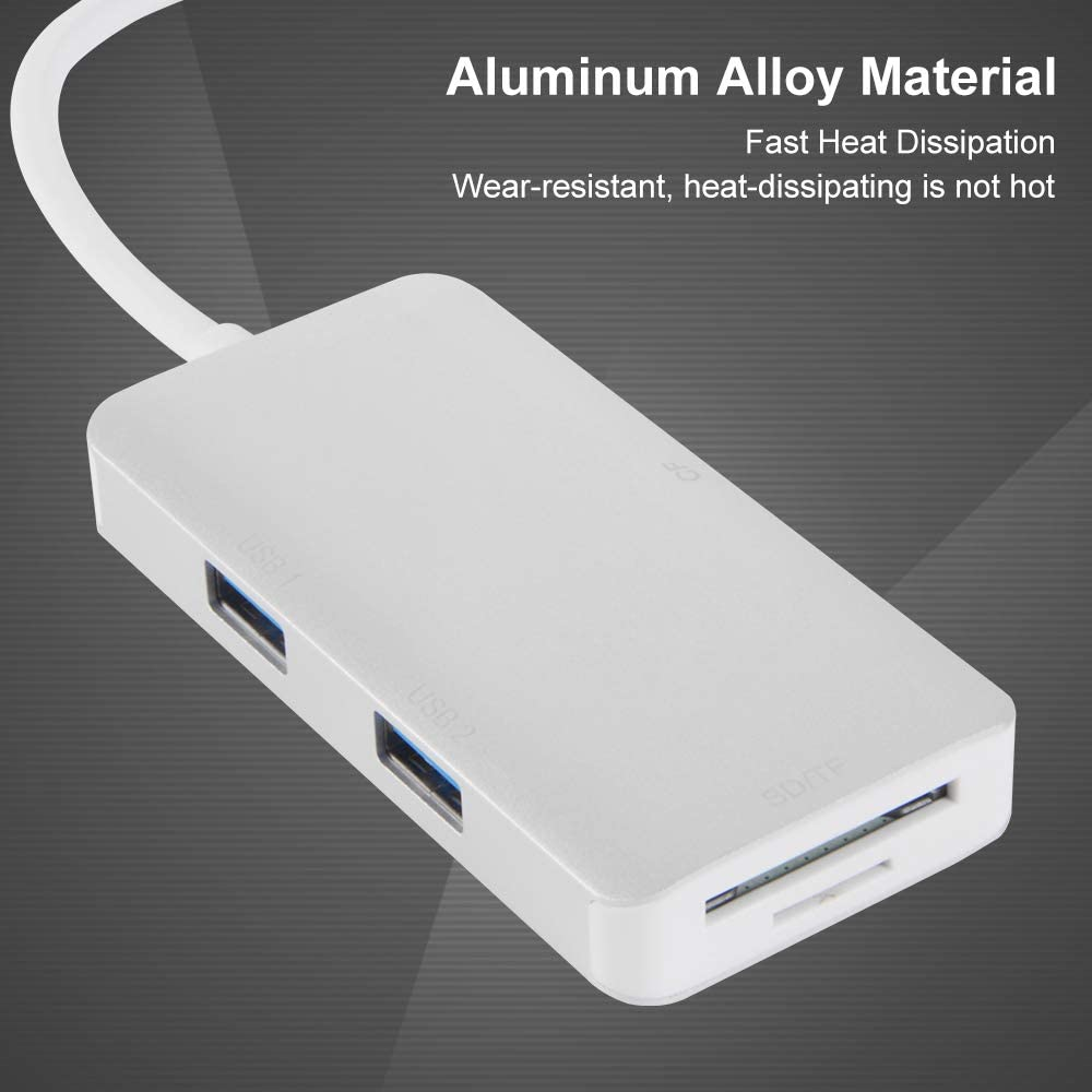 StepWorlf Silver USB 3.0 High Speed Multi-Function Card Reader Compatible for Wins Mac Linux AC1883