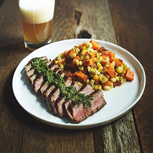 NY Steak with Sriracha Chimichurri and Sweet Potato Hash by Chef'd Partner Robert Irvine (Dinner for 2) (Wine For Steak Dinner)
