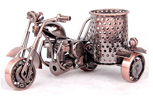 New Cast Engine (Metal Motorcycle Model Pen Pencil Holder Container Home Office Pen Holder (M46-1))