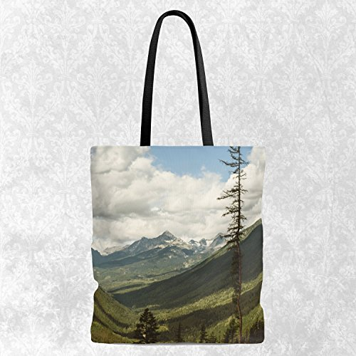 Scenic Mountains Tote Bag, Everyday Bag - Shopping Tote, Eco Grocery Bag 13