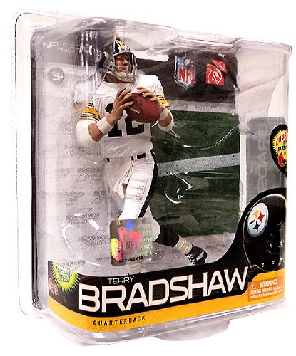 McFarlane Toys NFL Sports Picks Series 26 Action Figure Terry Bradshaw (Pittsburgh Steelers) All White Uniform Silver Collector Level Chase by McFarlane Toys