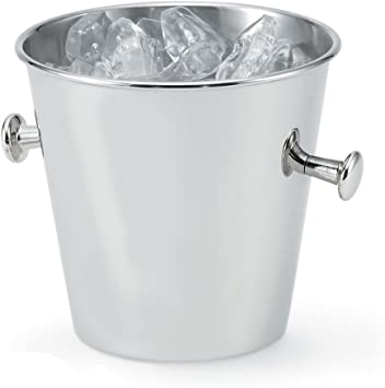 Stainless Steel Ribbed Ice Bucket 5 Quart BIGkitchen