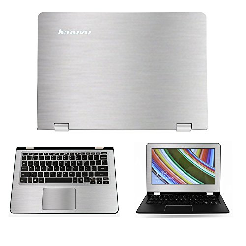 Silver Brushed Aluminum skin decal wrap skin case for Lenovo