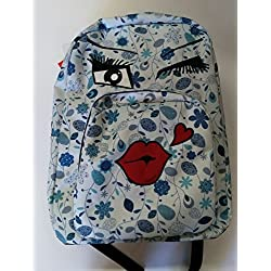 2cd3b282ec ZAINO INVICTA – OLLIE PACK FACE – Blue fantasia kiss – tasca porta pc  padded –