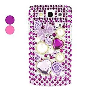 Rhinestones Hard Case for Samsung Galaxy S3 I9300 (Assorted Colors) , Pink