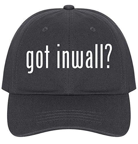 The Town Butler got Inwall? - A Nice Comfortable Adjustable Dad Hat Cap, Dark Grey