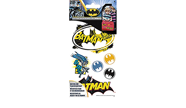 2 Sheet New Licensed st1401 Sticker Stickables Tyvek Batman