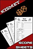 Kismet Score Sheets: 100 Kismet Dice Game Score