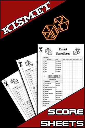 Kismet Score Sheets: 100 Kismet Dice Game Score