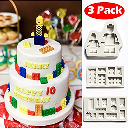 Building Blocks Lego Sugarcraft Silicone Fondant Mould for Cake ...