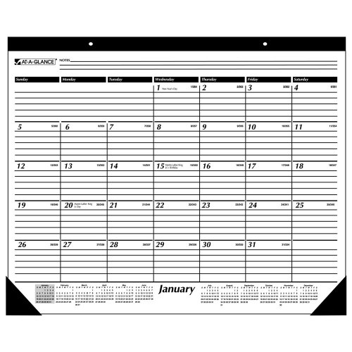 AT-A-GLANCE Monthly Desk Pad,  2010 (SK2400) 2010 Monthly Desk Pad