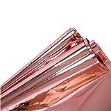 Alisy Rose Gold Foil Tablecloth, Shiny Plastic
