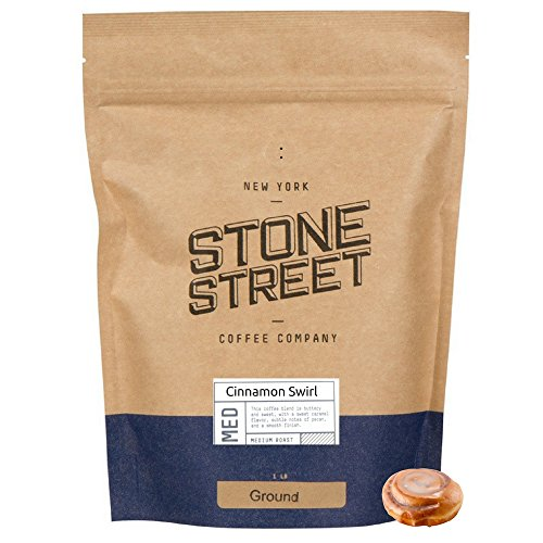 Caramel Brown Swirl - GOURMET CINNAMON SWIRL Flavored Ground Coffee | 1 LB Bag | Freshly Roasted 100% Colombian Arabica | Premium Quality Flavor