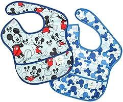 Bumkins Disney Baby Waterproof Super Bib, Mickey Icon, 6-24 Months, 2 Count