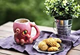 "Ceramic Pink Octopus Coffee Mug - As seen on ""Criminal Minds"" - w/ Tentacle Handle by Comfify - w/ 8 Squirmy 3D Tentacles & Big Eye - Perfect Coffee Gift for Gamers and Cthulhu Fans - 12 oz."