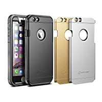 "iPhone 6s Case, New Trent Trentium 6S Rugged Protective Durable iPhone 6 Case for Apple iPhone 6s iPhone 6 4.7"" Screen, Black Silver Gold Plates"