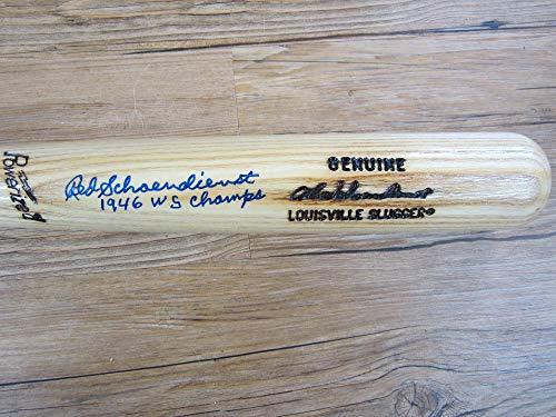 1946 World Series - Red Schoendienst Autograph/Signed Model Bat 1946 World Series Champs Cardinals