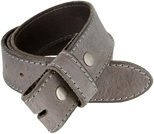 Italian Genuine Leather Belt Strap (38, Grey) (Italian Genuine Belt)