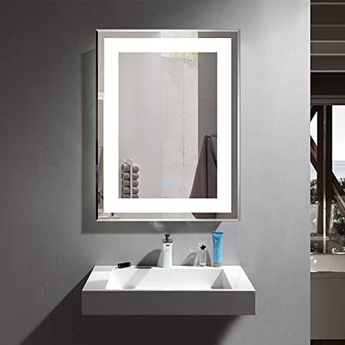 D-HYH 28 x 36 in Vertical LED Bathroom Mirror with Dimmer Function DK-D-CK168-W1