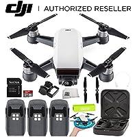 DJI Spark Portable Mini Drone Quadcopter Ultimate Palm Landing Pad Bundle (Alpine White)