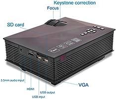 Build Excellent 1200 lúmenes Mini LED Proyector Portátil Proyector ...