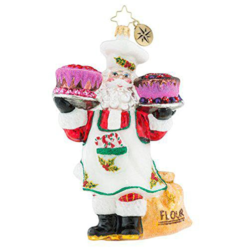 Christopher Radko Sugar And Spice Santa Christmas Ornament