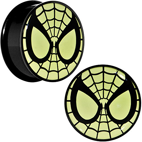 "1"" Acrylic Licensed SpiderMan Screw Fit Plug Set"