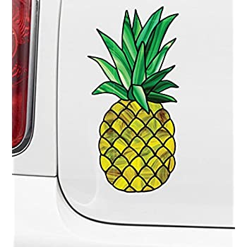 Pineapple stained glass vinyl decal for cars truck motorcycle outdoor use