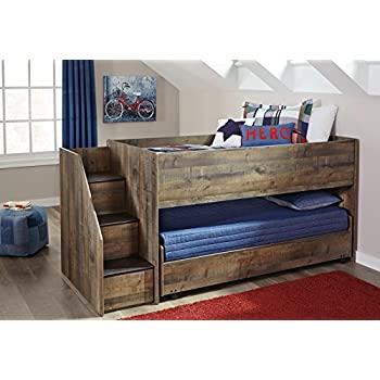 Amazon Com Ashley Trinell Twin Loft Caster Bed In Brown
