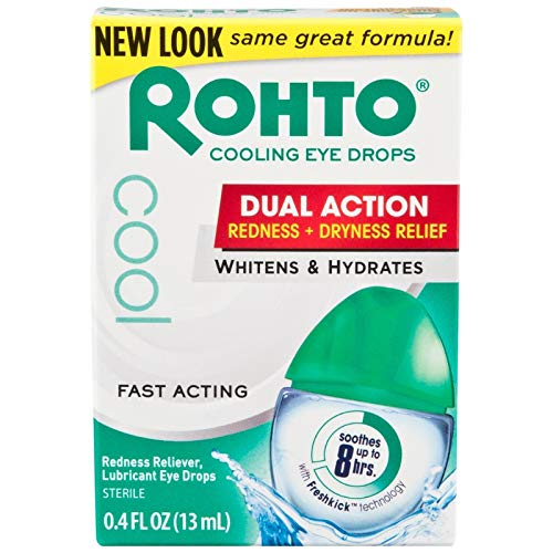 Rohto Lubricant Eye Drops Redness Relief .04 Ounce