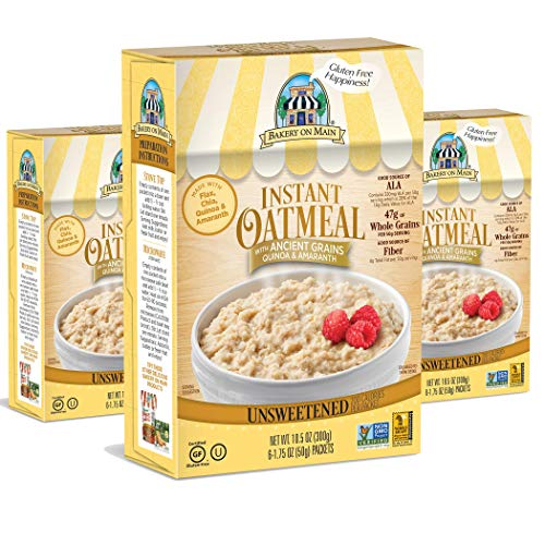 Bakery On Main Gluten-Free, Non-GMO Ancient Grains Instant Oatmeal, Traditional Unsweetened, 10.5 Ounce/6 Count Box (Pack of 3) Arrowhead Mills Hot Cereal