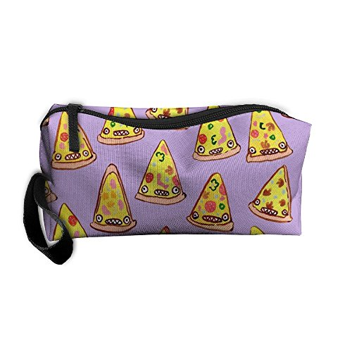 Price comparison product image Funny Pizza Pattern Storage Cosmetic Bag Portable Travel Makeup Bag Packing Pouches